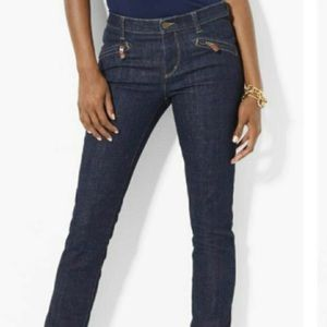 Ralph Lauren Straight Leg Zip Pocket Jeans